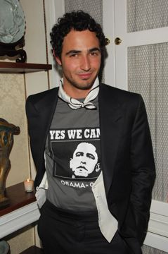 Zac Posen at Obama fundraiser
