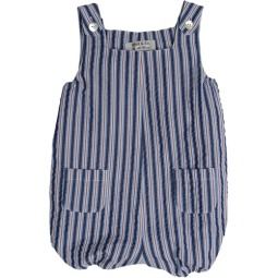 Best & Co. Infants Navy Cotton Stripe shortall