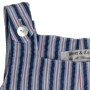 Best & Co. Navy Cotton Shortall Stripe