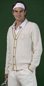 Wimbledon Nike Roger federer Cardigan