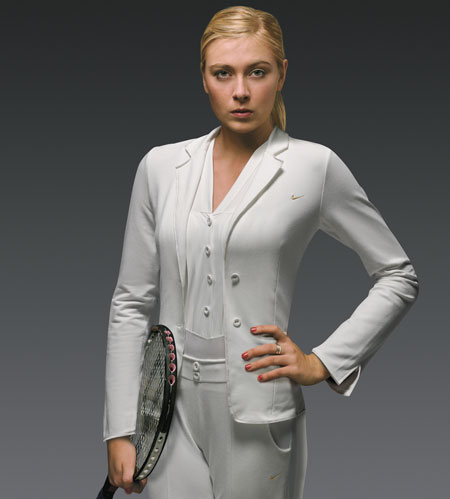 Maria Sharapova Formal Tuxedo Shorts handout photo