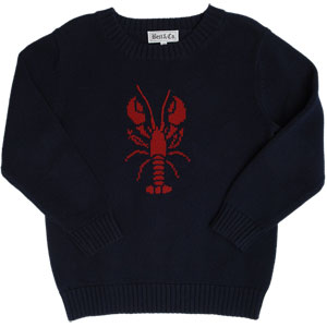 Best & Co Lobster Intarsia Sweater