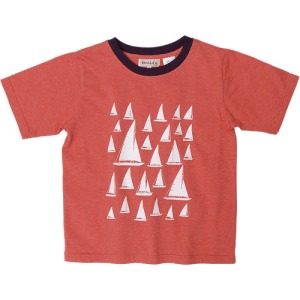 Printed Sailboat Ringer Tee