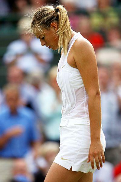 Sharapova Loses at Wimbledon 6.26.08 Tuxedo outfit