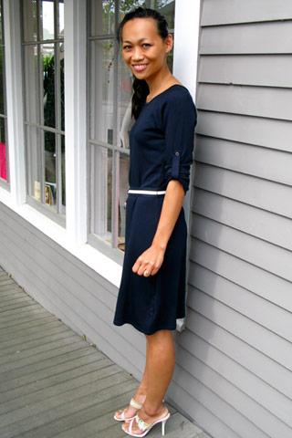 Marissa in Tocca dress, Charles David shoes