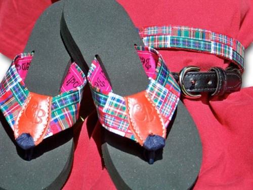 Preppy Princess Flip Flops & Belt Combo Stewart