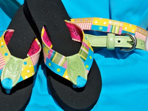 Preppy Princess Lopsicle Flip- Flops and Belt