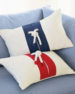 Williams Sonoma Nautical Rope Pillows