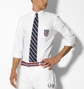 Ralph Lauren Slim Custom-Fit US Shield Oxford