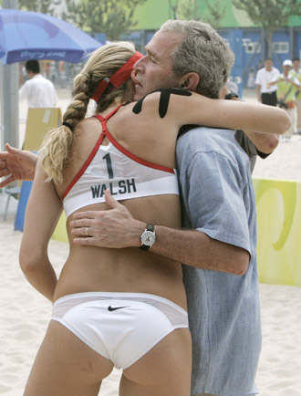 President Bush & Team USA's Misty May-Trainor