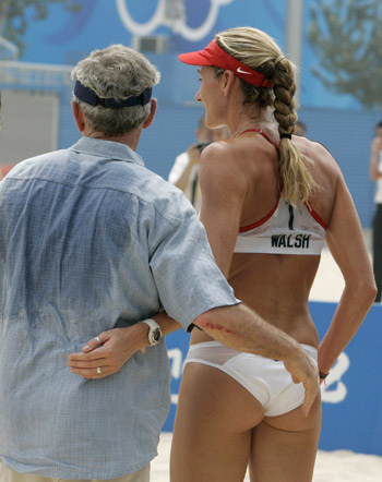 President Bush & Misty May-Trainor, Team USA Volleyball