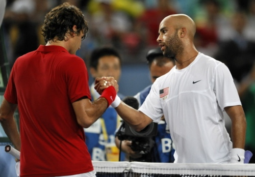 James Blake, USA and Roger Federer, Switzerland