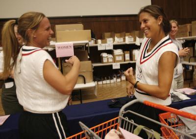 Team USA Soccer Christie Rampone, (L) & Carli Lloyd (R)