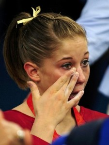 Silver medalist Shawn Johnson Team USA after Medal Ceremony