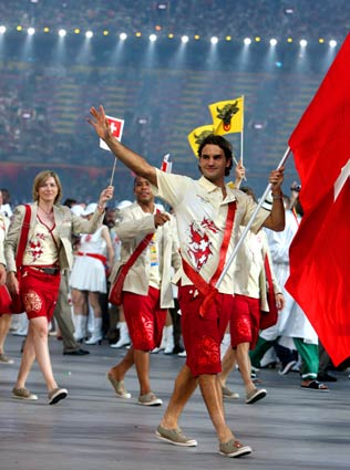 Roger Federer Leads Swiss Delegation