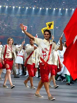 Roger Federer Leads Swiss Delegation