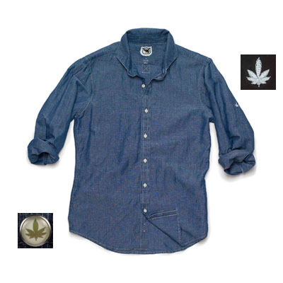 Hickey Linen/Cotton Blend Chambray Shirt