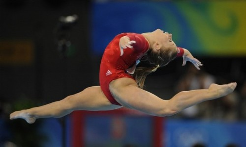 Shawn Johnson (Photo credit AFP/Getty)