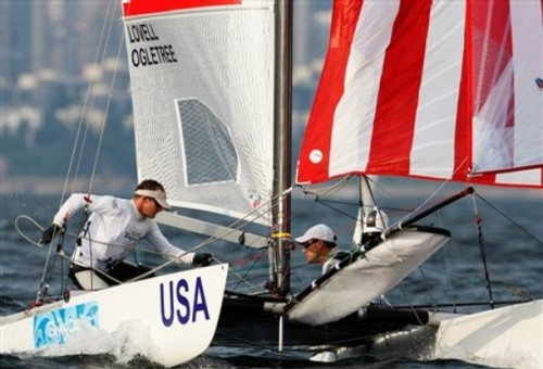 Johnny Lovell, Charlie Ogletree Team USA in Tornado Class Sailing Competition