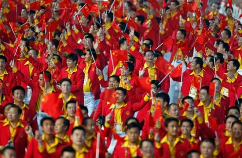 Chinese Olympic Team Members Opening Ceremonies
