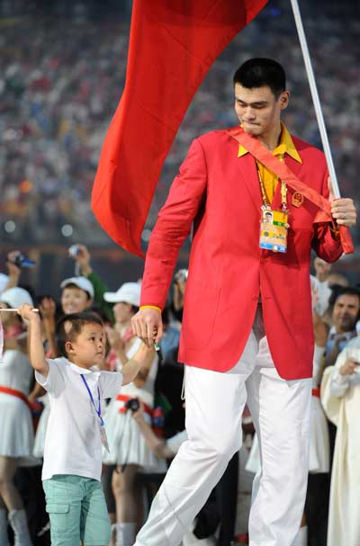 Yao Ming Chinese Flag Bearer
