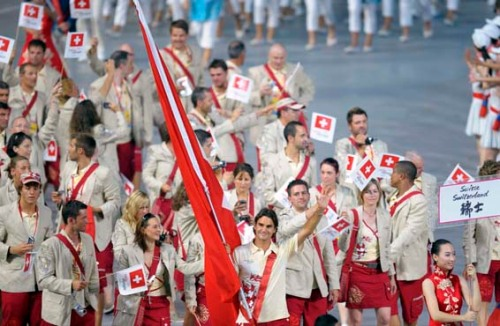 Swiss Delegation Opening Ceremony 2008 Olympic Games