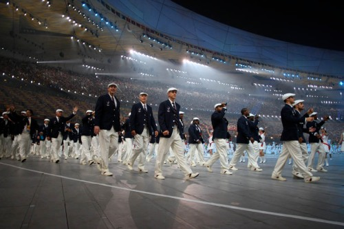 U.S. Team Enters Stadium 2008 Beijing Summer Olympics