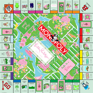Lilly Pulitzer Monopoly Game