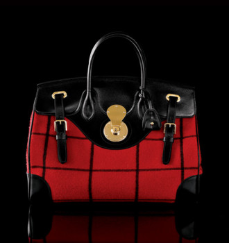 Ralph Lauren Collection Windowpane Plaid Ricky bag