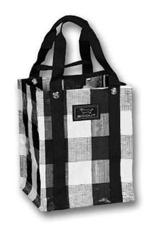 Scout Black Check Baguette Tote