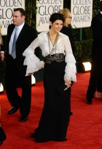 Marisa Tomei wearing Oscar de la Renta dress. Photo by Tyler Boye