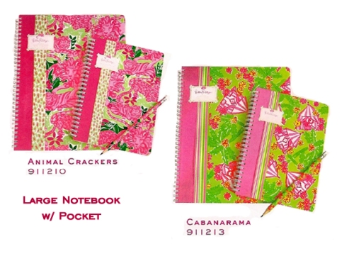 Lilly Pulitzer Notebooks at PreppyPrincess.com