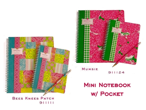 Lilly Pulitzer Mini-Notebooks at PreppyPrincess.com