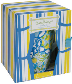 Lilly Latte Da! mugs at Preppy Princess.com