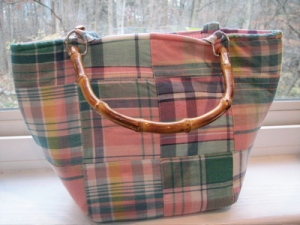 Just Madras Bucket Bag