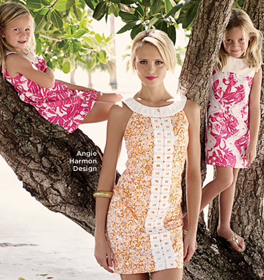 Angie Harmon Designs for Lilly Pulitzer
