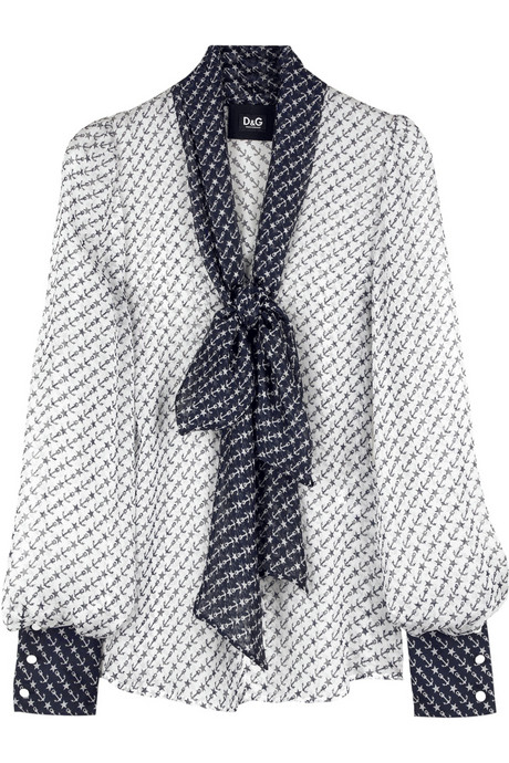 D&G Dolce&Gabbana chiffon blouse