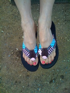 Cotton Candy Flip Flops at PreppyPrincess.com