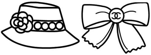Coco Chanel Fashion Sketches Sketch Coloring Page