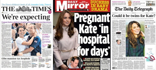 Kate London Paper Front Pages