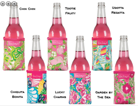 Lilly Pulitzer Drink Huggers at PreppyPrincess.com