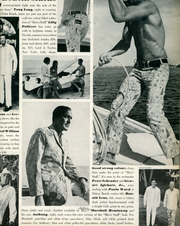 1968 Advertisement via Lilly Pulitzer Pinterest