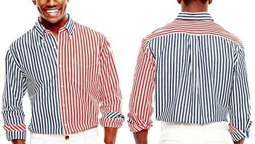 Stafford prep Bengal Stripe Shirt