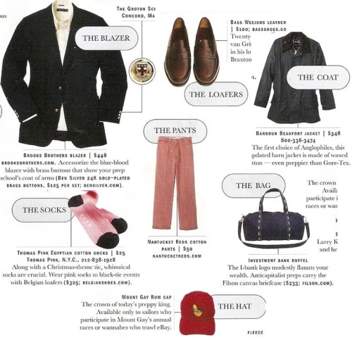 The Vitals Preppy Guidebook via Alex Grant