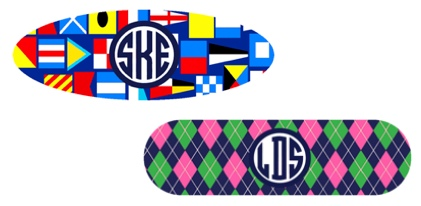 Monogrammed Barrettes at PreppyPrincess.com