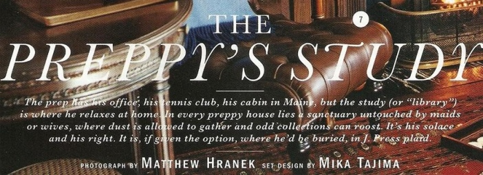 """The Vitals Preppy Guidebook"" via Alex Grant"